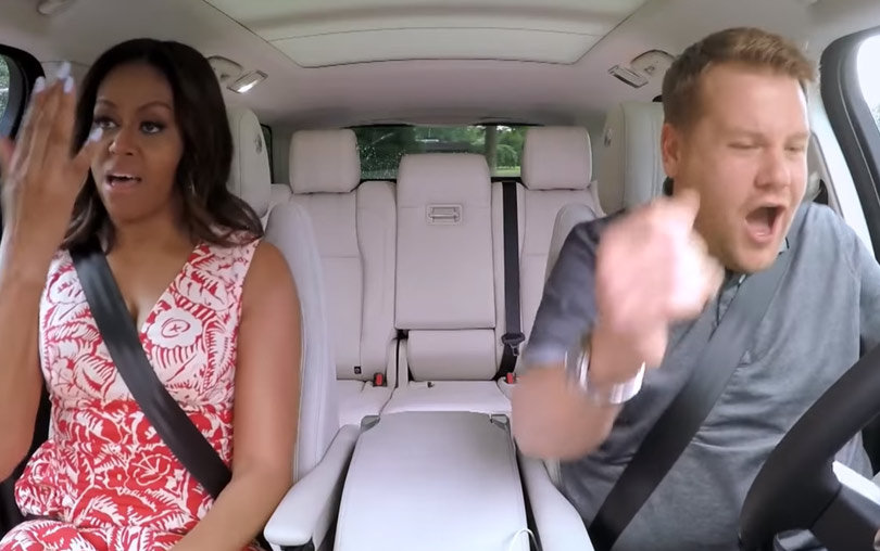 """Michelle Obama Puts Her Hands Up for Beyonce In """"Carpool Karaoke"""" Teaser"""