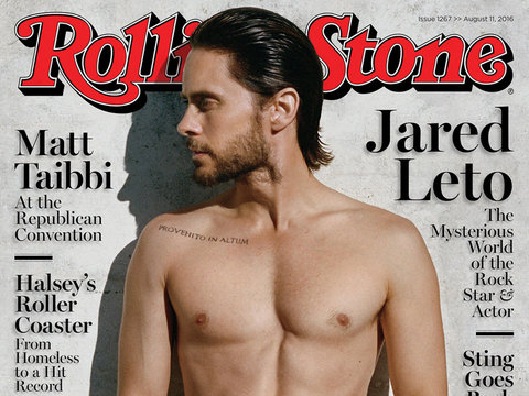 """Jared Leto Shows Off Shredded Stomach For Rolling Stone, Talks Past Drug Use: """"I Did…"""
