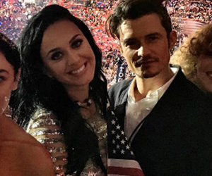 See How Orlando Adorably Supported Katy at the DNC!
