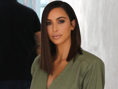 Kim Kardashian Shows Off Chic New Lob -- And We're Loving It!