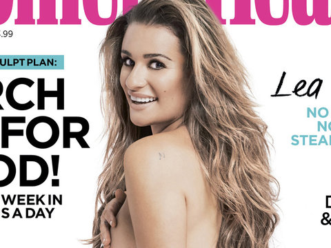 "Lea Gets Naked, Shows Off ""Finn"" Tattoo In Honor of Cory"