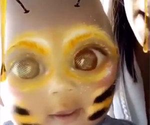 Kim Kardashian's Snapchat of Saint Is Bee-yond Cute!