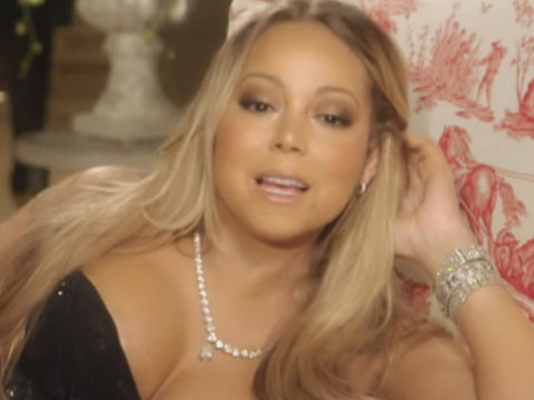 "Mariah Tries on Wedding Dresses, Bashes ""American Idol"""