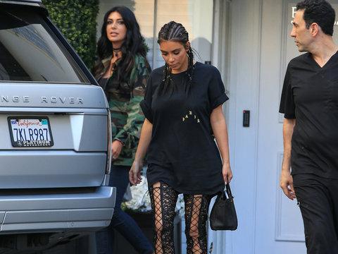 Kim Kardashian's Thigh High Lace -- Fab or Drab?