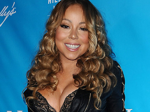 Mariah Carey Flashes Bra In Head-To-Toe Leather Look