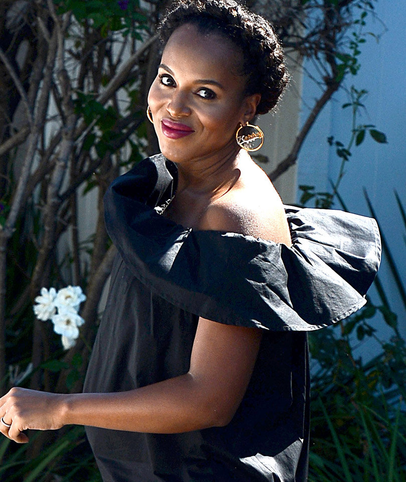 She's Glowing! Kerry Washington Shows Off Growing Baby Bump While Out In L.A.