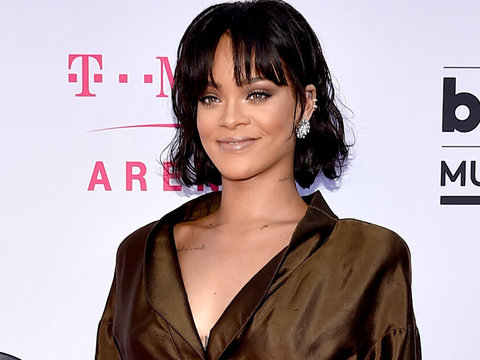Rihanna Visits Her Own Boobs at the Berlin Biennale -- See the Funny Pic!