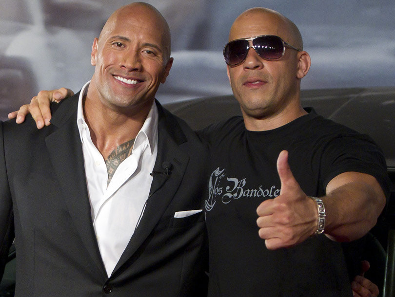 """Vin Diesel Compliments The Rock Amid """"Fast & Furious 8"""" Feud"""