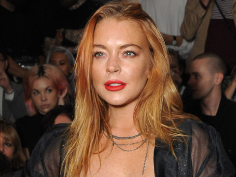 Lindsay Lohan Slays in Sexy Black One-Piece