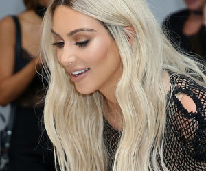 Kim Kardashian Gets Up Close & Personal with Kanye & Taylor Wax Figures