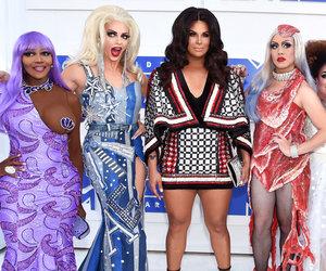 """Drag Race"" Stars Hit VMAs as Lil Kim, Kim, Gaga & More!"