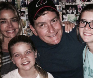 Charlie Sheen Shares Rare Pic with Denise, Two Daughters