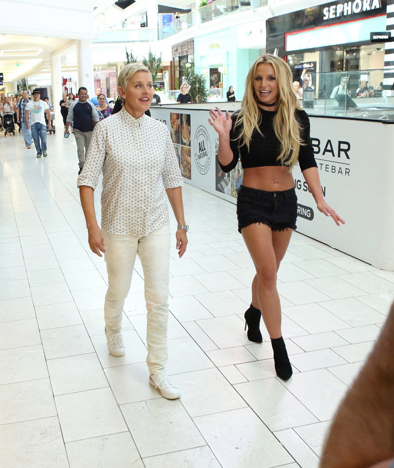 Chaos Ensues as Britney Spears & Ellen DeGeneres Hit the Mall -- And Shoplift!