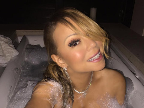 Mariah Takes a Bath In Her Diamonds … And NOTHING ELSE