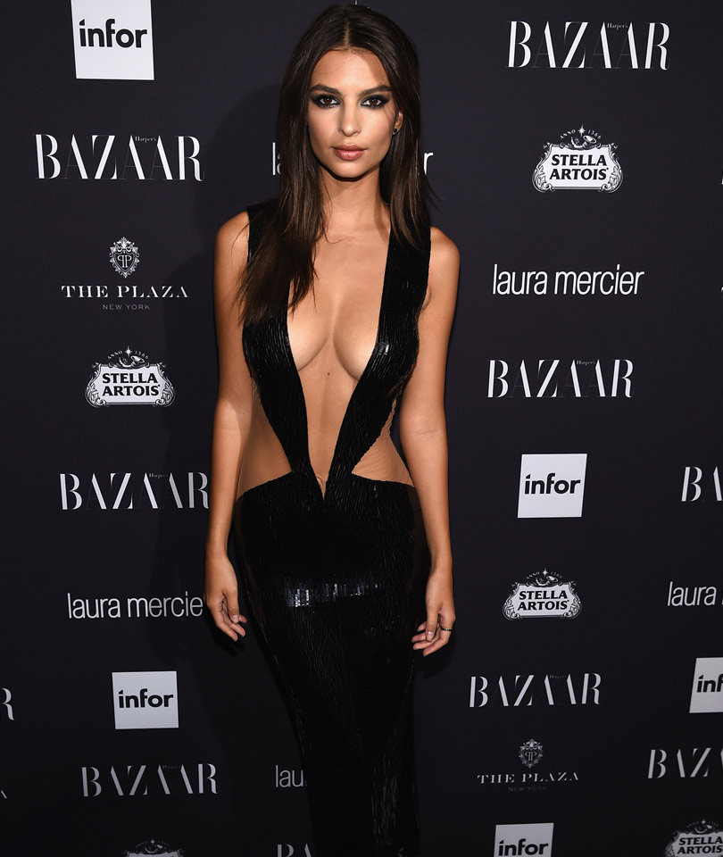 "Feud Alert! Emily Ratajkowski Mounts Epic Defense of Dress Tim Gunn Called ""Vulgar"""