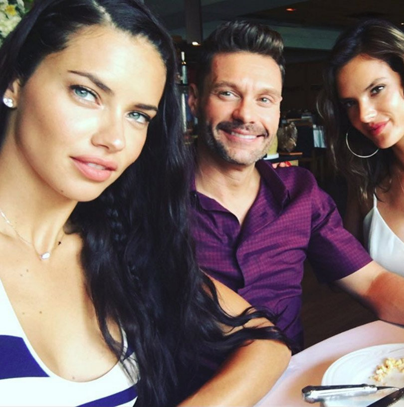 Adriana Lima Reportedly Dating Ryan Seacrest ... and Julian Edelman!