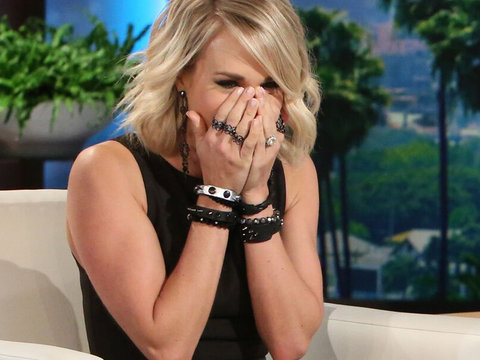 Ellen DeGeneres Just Scared the Crap Out of Carrie Underwood