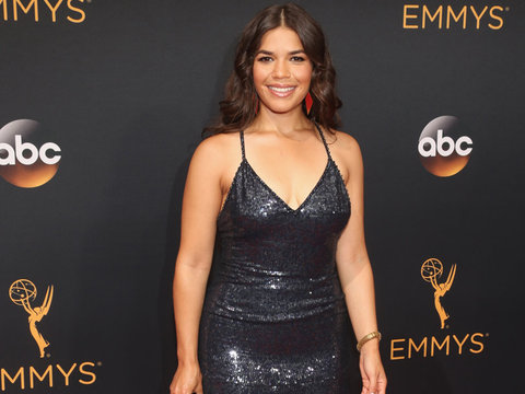 America Ferrera Attends the Emmys After Doing a Triathlon