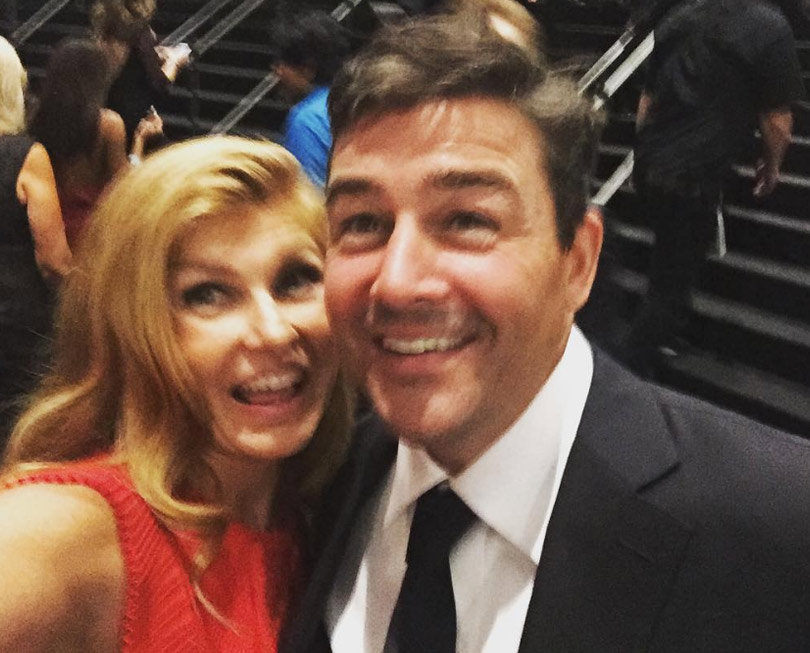 "Connie Britton & Kyle Chandler Have ""Friday Night Lights"" Reunion at the Emmys"