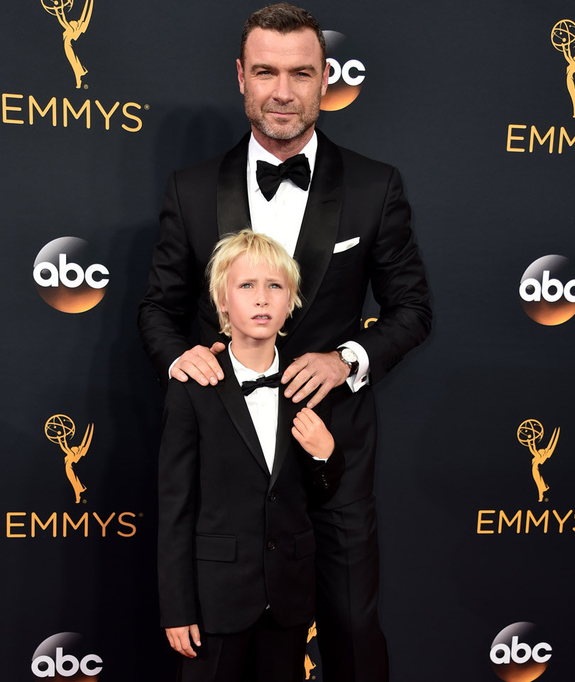 Liev Schreiber and His Mini Me Son Sasha Make Adorable Pair at Emmys!