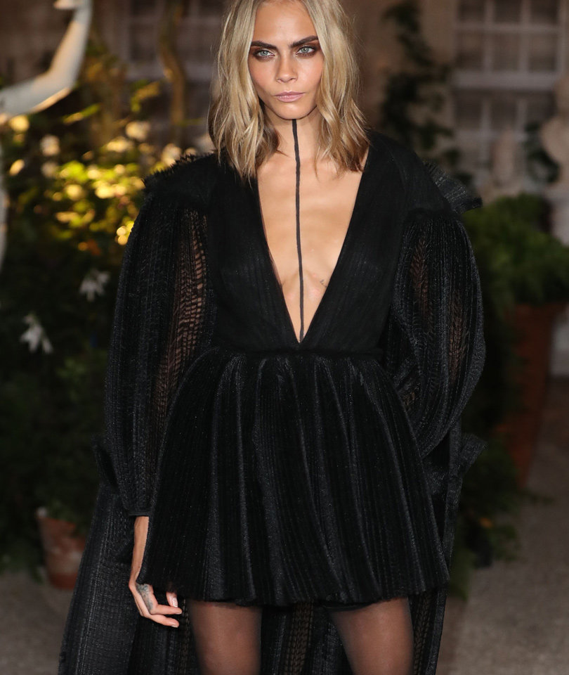 Cara Delevingne Is Gorgeously Goth at London Fashion Week