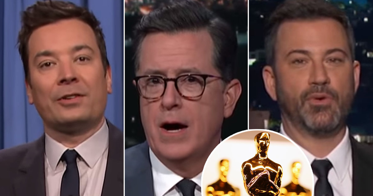 Oscars Take Over Late-Night TV as Hosts Consider 'The Shape of Water' and Shape of Trump