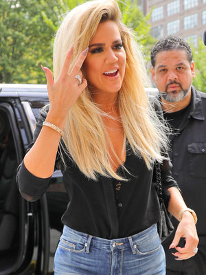 Khloe Shows Off Her Skinny Style In Own Denim Line
