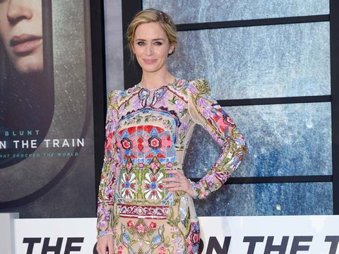 Emily Blunt's Colorful Beaded Gown -- Fab or Drab?