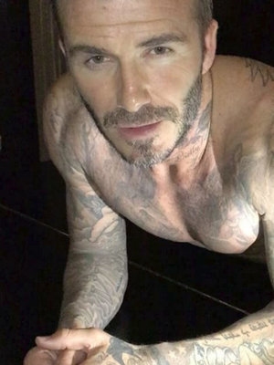 David Beckham Strips to His Underwear to Do Push-Ups