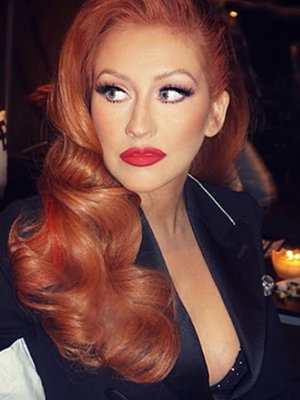 Christina Aguilera Ditches Red 'Do -- See New Hue!