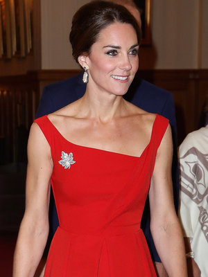 Kate Middleton Radiates In Red During Royal Visit in Canada