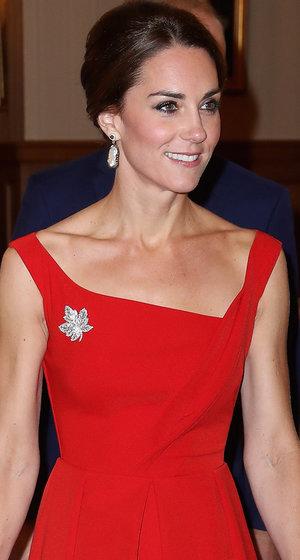 Kate Middleton Radiates In Red During Royal Visit in Canada