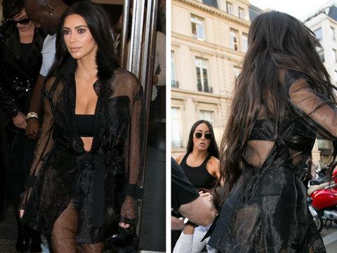 Kim Kardashian Attacked In Paris -- Stranger Kisses Butt!