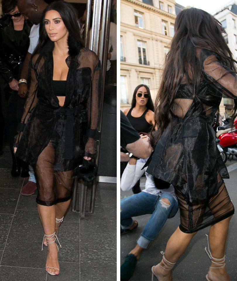 Kim Kardashian Attacked In Paris -- Stranger Kisses Butt!