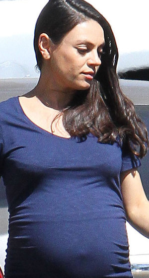 Pregnant Mila Kuns Is All Belly Ahead of Wyatt's 2nd Birthday