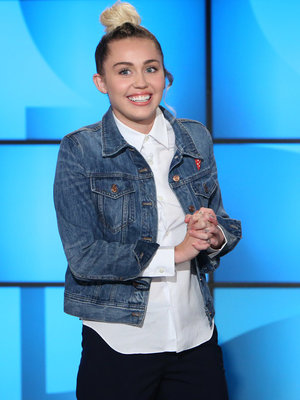 "Miley Cyrus Subs for Ellen, Says She Slipped Host Some ""Molly"""