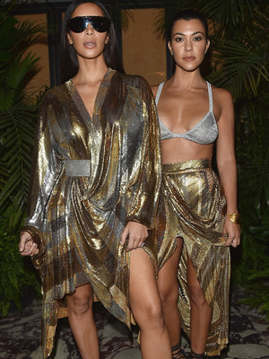 Kourtney Flaunts Hot Bod at Balmain Bash with Kimye