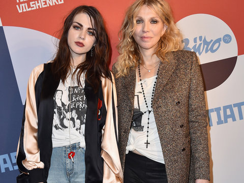 Courtney Love & Frances Bean Arrive at PFW Hand-in-Hand