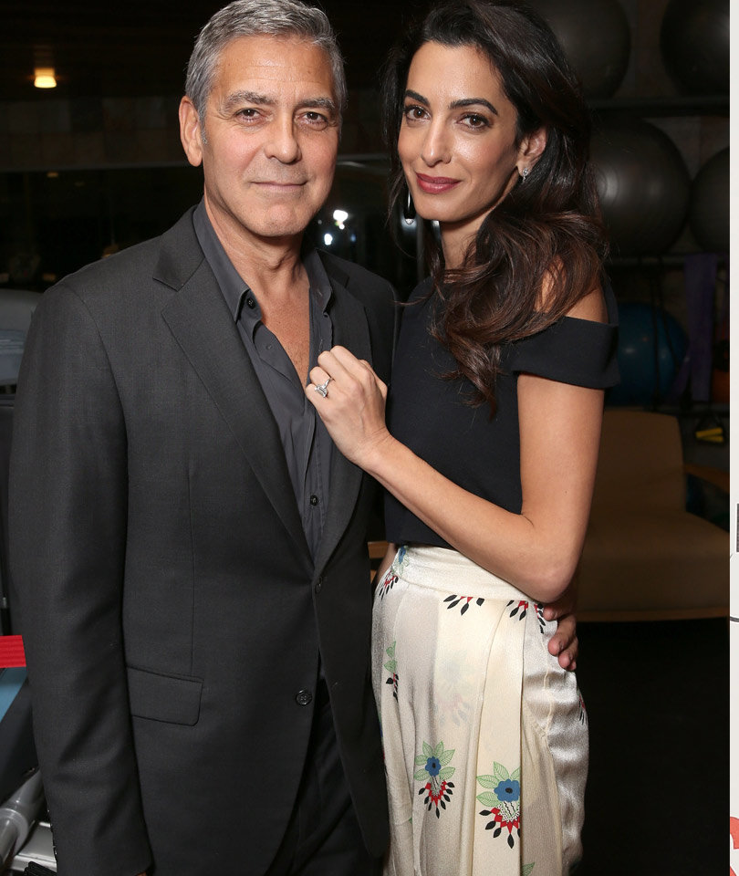 """George Clooney Dishes on His """"Civilized"""" Anniversary Celebration with Amal"""