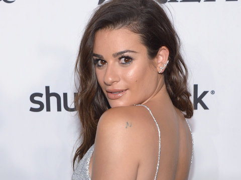 Lea Michele Flaunts Her Fit Derriere In Yellow Bikini