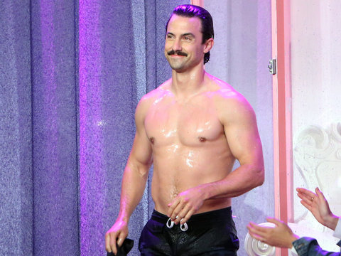 "Hot Video: Milo Ventimiglia Gets Wet & Shirtless on ""Ellen"""