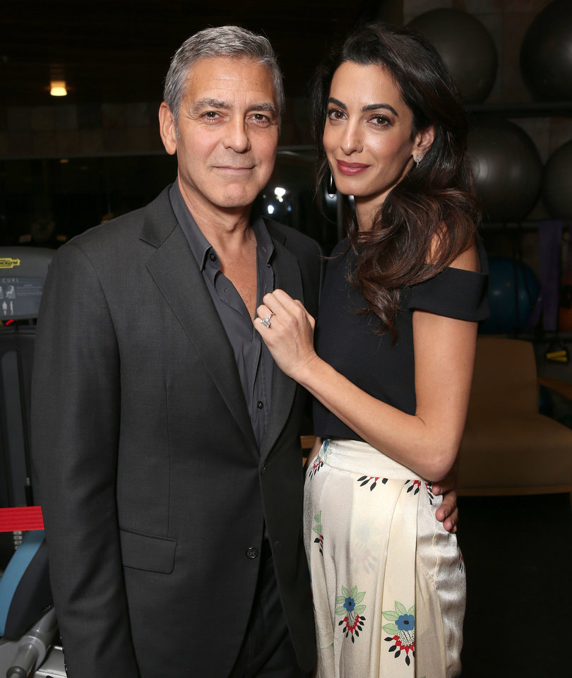 Amal Looks Chic With Hubby George Clooney During Date Night