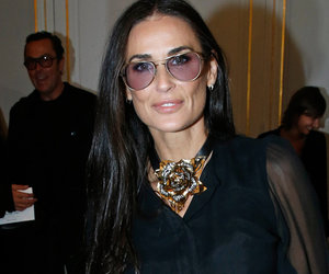 Demi Moore Is Back In Black at Paris Fashion Week