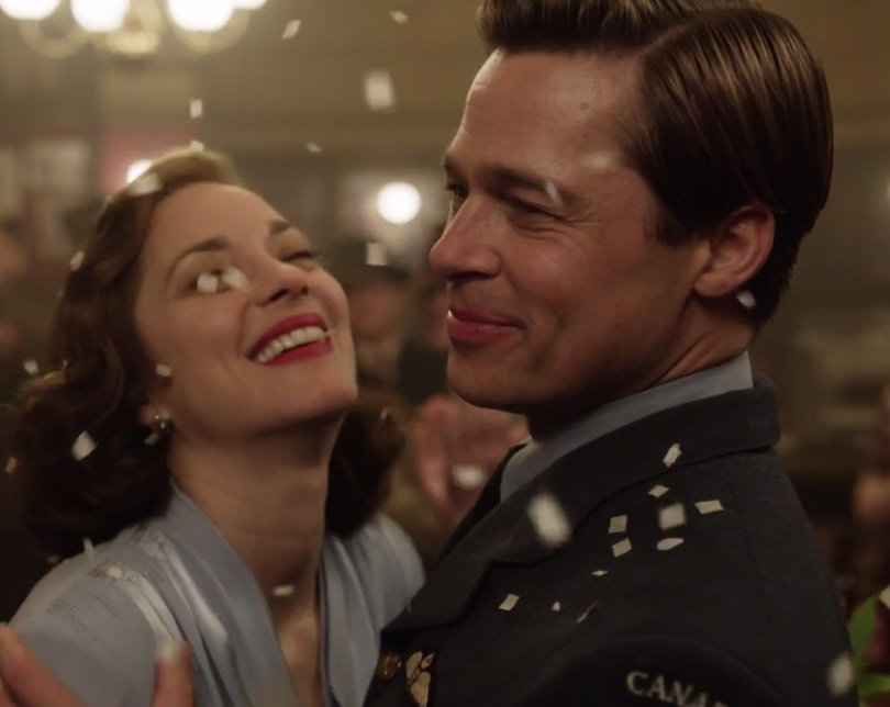 Brad Pitt, Marion Cotillard in Love and War in