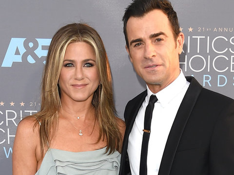 "Justin Theroux Says Jennifer Aniston Has ""Lived Through a Lot of Bulls--t"""