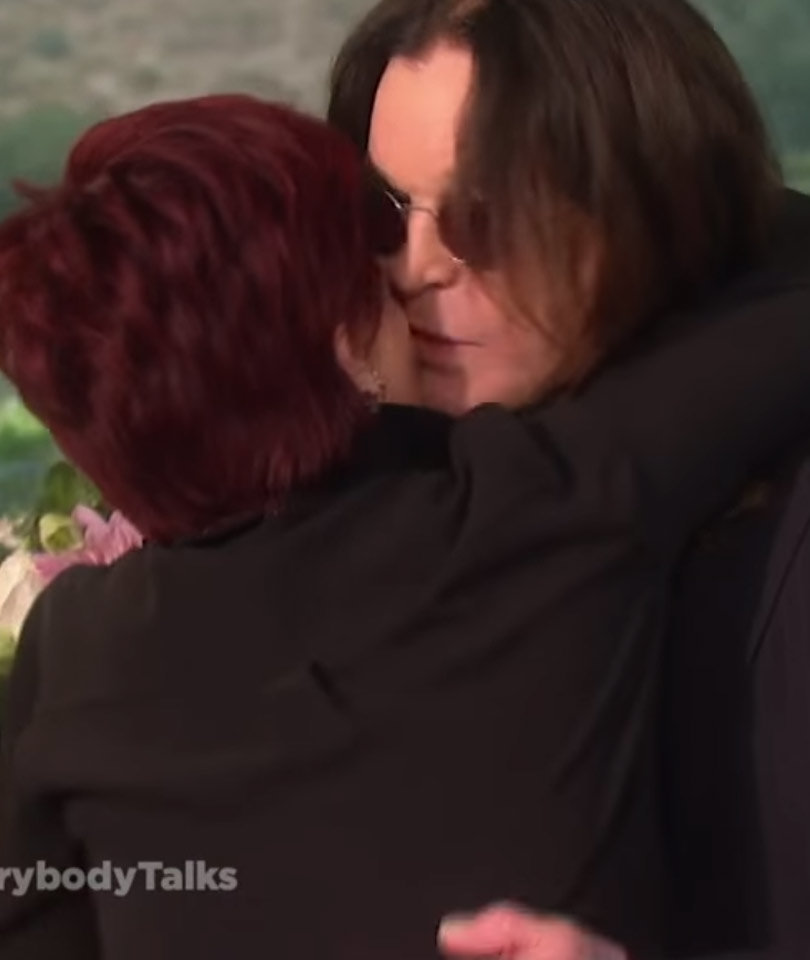 "Ozzy & Sharon Have Awkward Makeout Sesh on ""The Talk"""