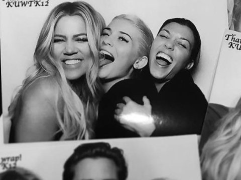"Kardashians Enjoy ""KUWTK"" Wrap Party -- But Kim's MIA!"