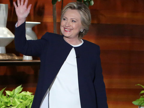 "Hillary to Ellen: Trump ""Literally Stalked Me"" During Debate"