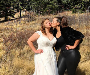 Ashley Graham's Leather-Clad Booty Steals Show at Sister's Wedding