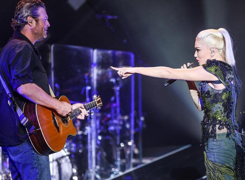 Blake Shelton Makes Surprise Appearance During Gwen Stefani's Concert